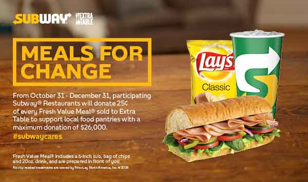 Local Food Bank to benefit from Subway® Fundraiser Diners have a delicious way to help their neighbors in need